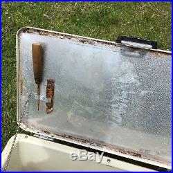 Vintage Pink Hamilton Skotch Cold Flyte Metal Cooler Fiberglass Insulated RARE