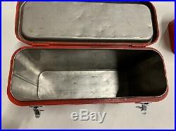 Vintage RARE Coca-Cola Airline Cooler GAS OIL SODA Minty Metal Drink Suitcase