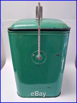 Vintage RARE Polar Extra Dry Ginger Ale Cooler Metal Picnic Drink GAS OIL SODA