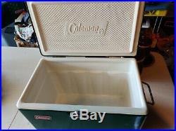 Vintage Rare Coleman Cooler 18 X 12 X 10, 1960s green color super clean