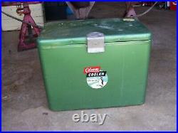 Vintage Rare Mini Metal Green Diamond Coleman Cooler Metal Handle From the 50's