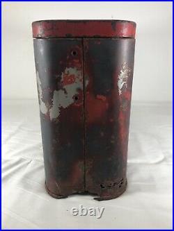 Vintage Red Drink Coca-Cola Airline Suitcase Cooler Original Metal Rare Coke