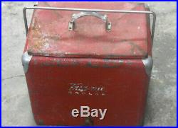 Vintage Red Trip-Nic Metal Cooler Coca Cola Pepsi Bottles Vintage Soda Ice Box