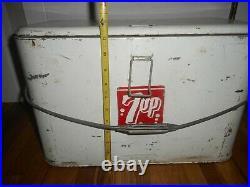 Vintage Retro 7up SODA POP PICNIC Metal Advertising Cooler