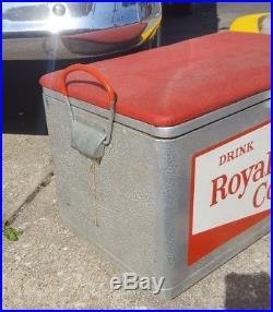 Vintage Royal Crown Cola Metal Cooler RC Picnic Soda Cronstrom Minneapolis MN