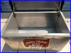 Vintage Royal Crown RC Cola Picnic Advertising Metal Cooler Ice Chest