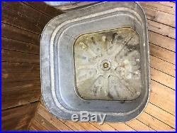 Vintage Rustic DOUBLE WASH TUB metal planter cooler country garden WHEELING loft
