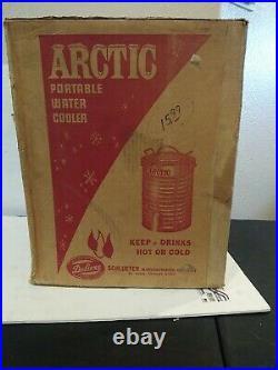 Vintage Schlueter ARCTIC DELUXE 10 Gallon Portable METAL Water Cooler NEW
