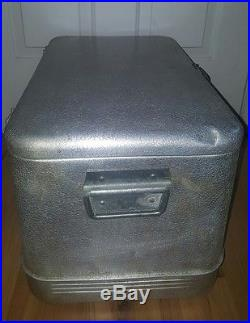 Metal Ice Chest Vintage Silver Metal Ice Chest Cooler