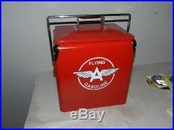Metal Ice Chest | Vintage Style Flying A Gasoline Cooler- Metal