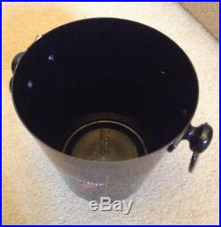 Vintage Used Black Bollinger Special Champagne Ice Bucket Metal Cooler Wine Bar