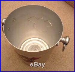 Vintage Used Bollinger Champagne Ice Bucket Metal Cooler Wine Bar Party French