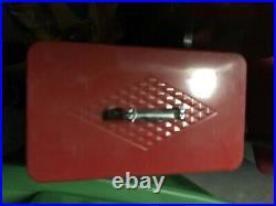 Vintage coleman cooler diamond red