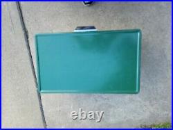Vintage coleman metal cooler green