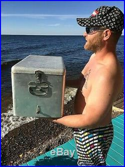 Vintage early Jax Beer Metal Cooler With Logo Sign Lone Star Pearl