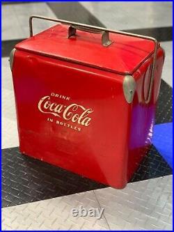 Vintage metal coca cola cooler