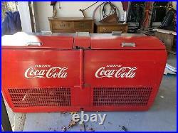 Vintage metal coke cooler 1950s