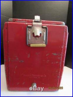 VintageDRINK COCA-COLA IN BOTTLESCOOLERRedMetalSandwich TrayDrain Plug