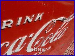 Vtg 1950's Coca-Cola Cooler Acton Metal Bottle Opener Drain Plug Original Paint