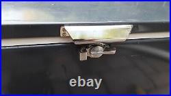 Vtg 1986 Coleman Steel Belted 80 Metal Cooler Metallic Grey With White Interior
