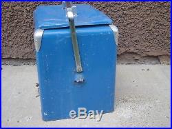 Vtg Antique Pepsi Cola Metal Ice Cooler Soda Pop Picnic Blue Chest Progress