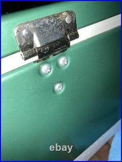 Vtg Coleman Snow-Lite Cooler Metal Handles Dual Bottle Openers