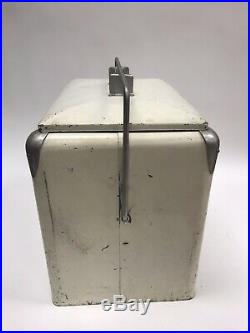 Vtg GRAPETTE GRAPE SODA Metal COLA COOLER SIGN EMBOSSED Letters pepsi coke 7up