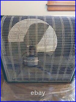 Vtg Homart (Sears) Cooler Attic Large Industrial Metal Exhaust Fan Green