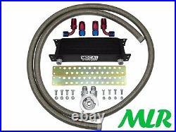 Vw Golf 1.8 Turbo 2.0 Gti Stainless Braided Hose Engine Oil Cooler Kit Zqmk