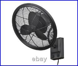Wall Mounted Fan Oscillating 3 Speed Air Cooler 18 in. Indoor / Outdoor
