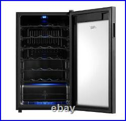 Wine Cooler Arctic King Premium 34 Bottle Fridge Chiller Touch Control Glass NEW