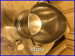 Wine Cooler Champagne Chiller Pewter bucket French CHATEAU Engraved